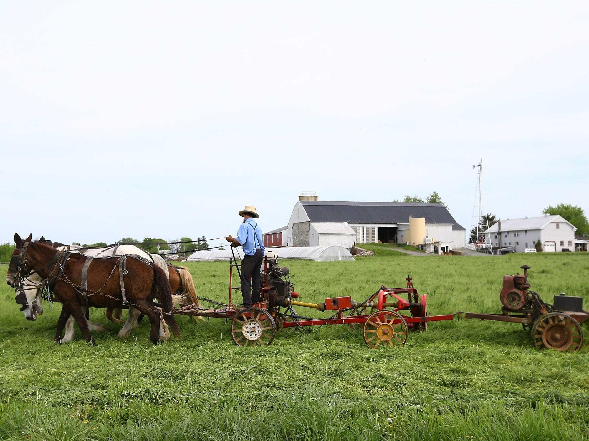 Tỷ lệ tiêm vắc xin COVID-19 ở cộng đồng người Amish thuộc nhóm thấp nhất tại Mỹ - Ảnh: Volkan Furuncu/Anadolu Agency/Getty Images