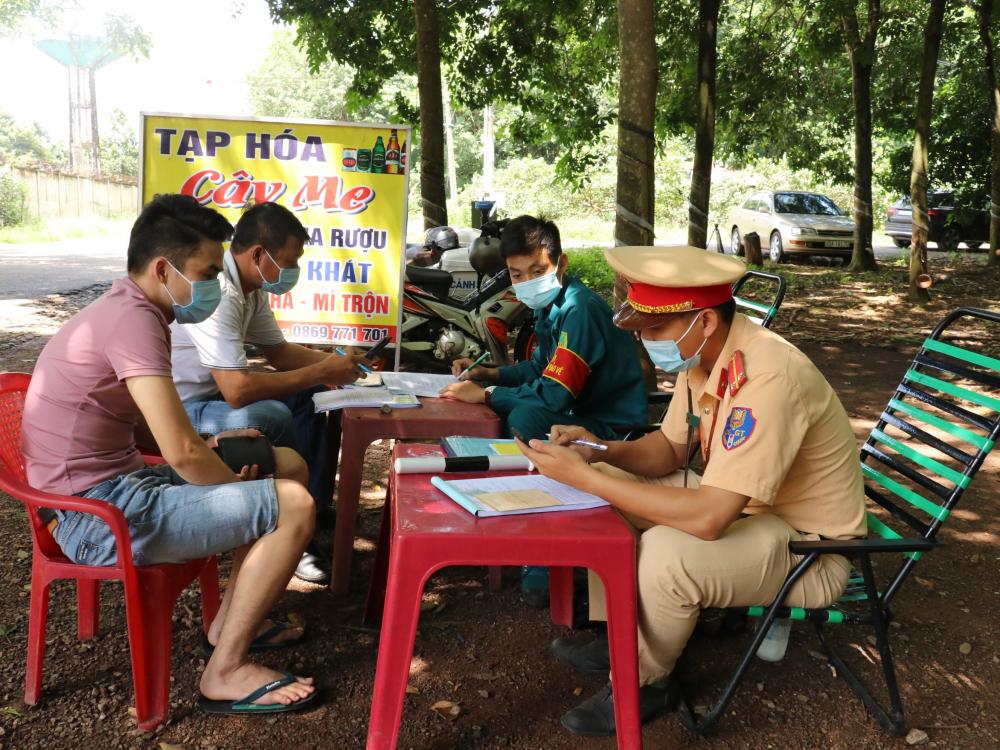 Chốt phụ quan trọng ở đường nhánh giáp ranh 2 tỉnh Bình Dương và Bình Phước