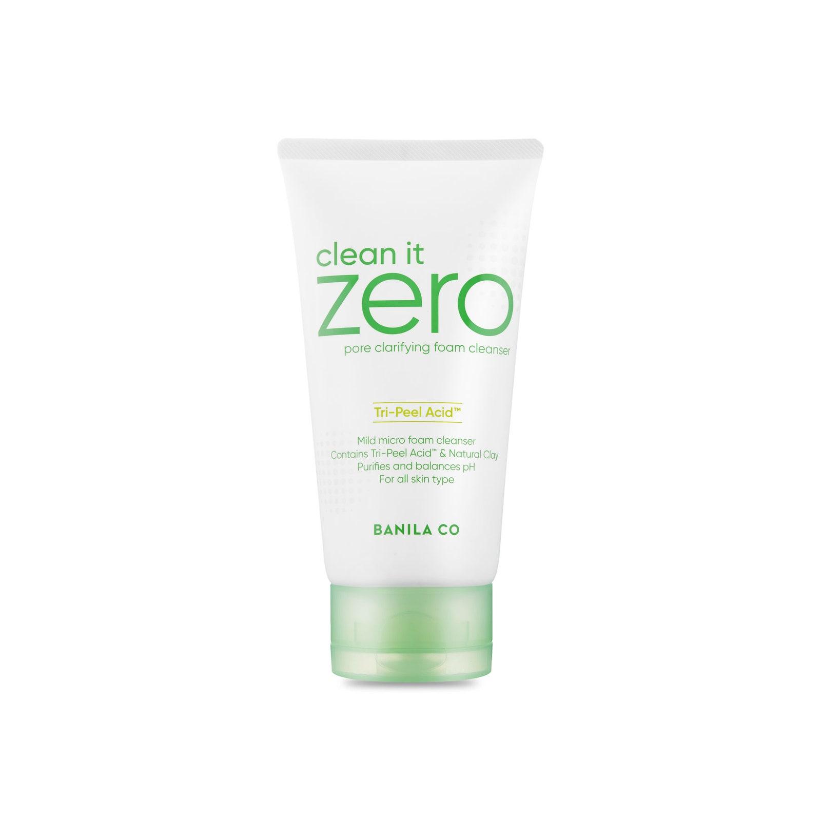 Sữa rửa mặt cho da mụn Clean it zero (giá 250.000 đồng): Với sự kết hợp nhẹ nhàng nhưng hiệu quả của AHA, BHA và LHA rửa mặt chứa nhiều axit sẽ quét đi các tế bào da chết để giúp lỗ chân lông không bị tắc nghẽn và da không bị nổi mụn.
