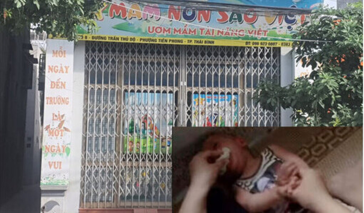 Lớp mầm non tư thục nơi có cô giáo nhét giẻ vào miệng bé trai 1 tuổi