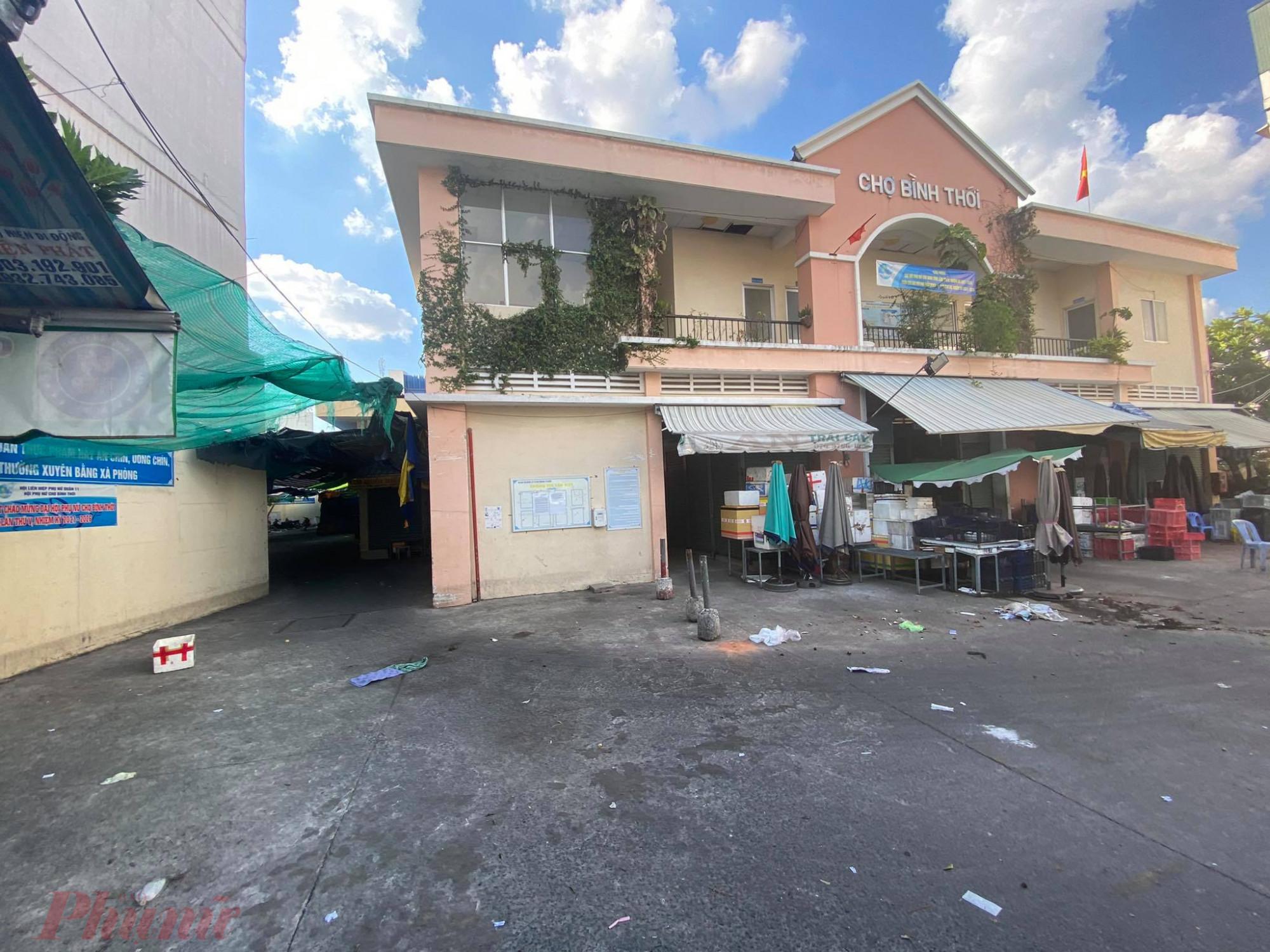 Chợ Bình Thới đã đóng cửa vì có liên quan đến ca mắc COVID-19