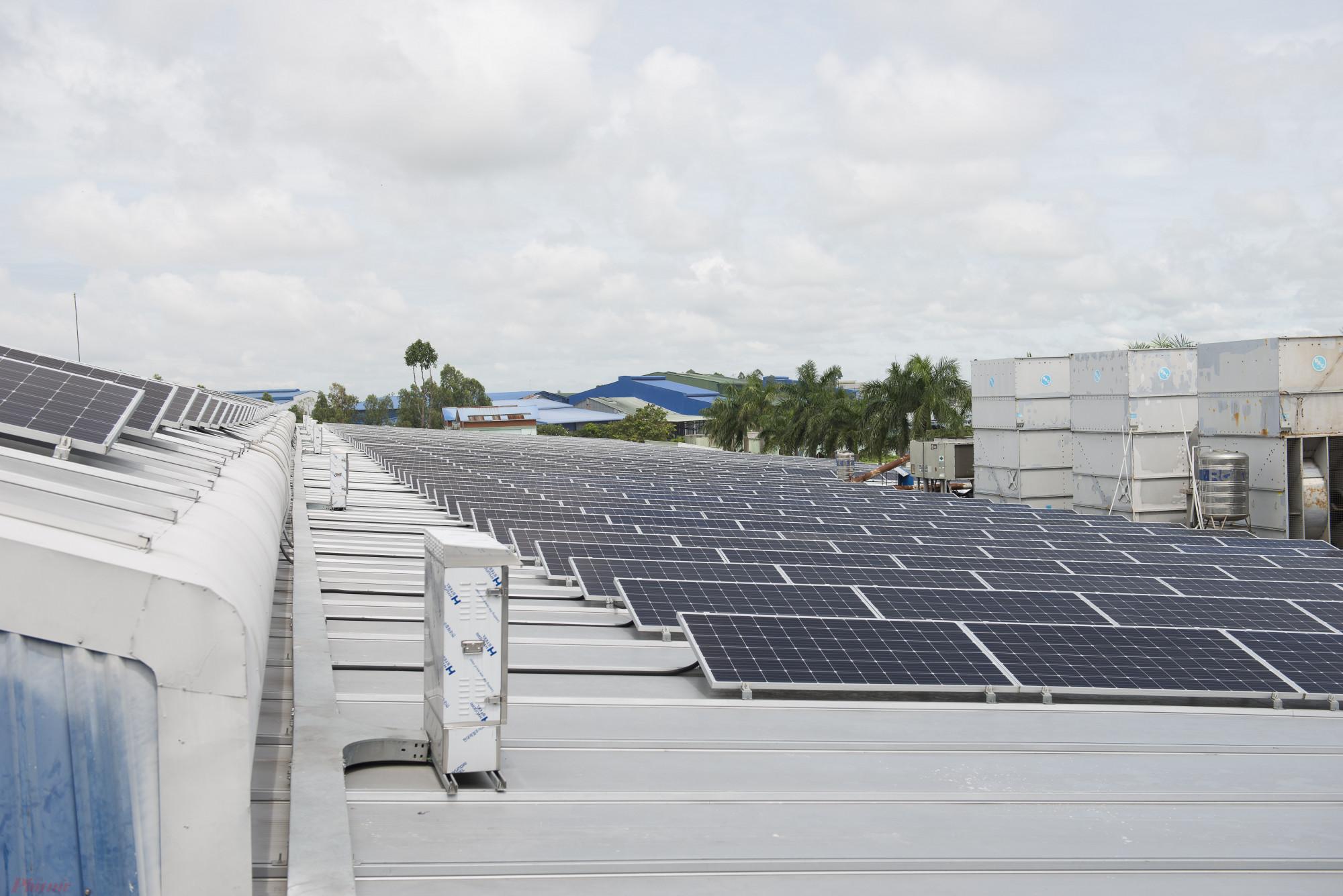 Hệ thống điện mặt trời áp mái thuộc dự án