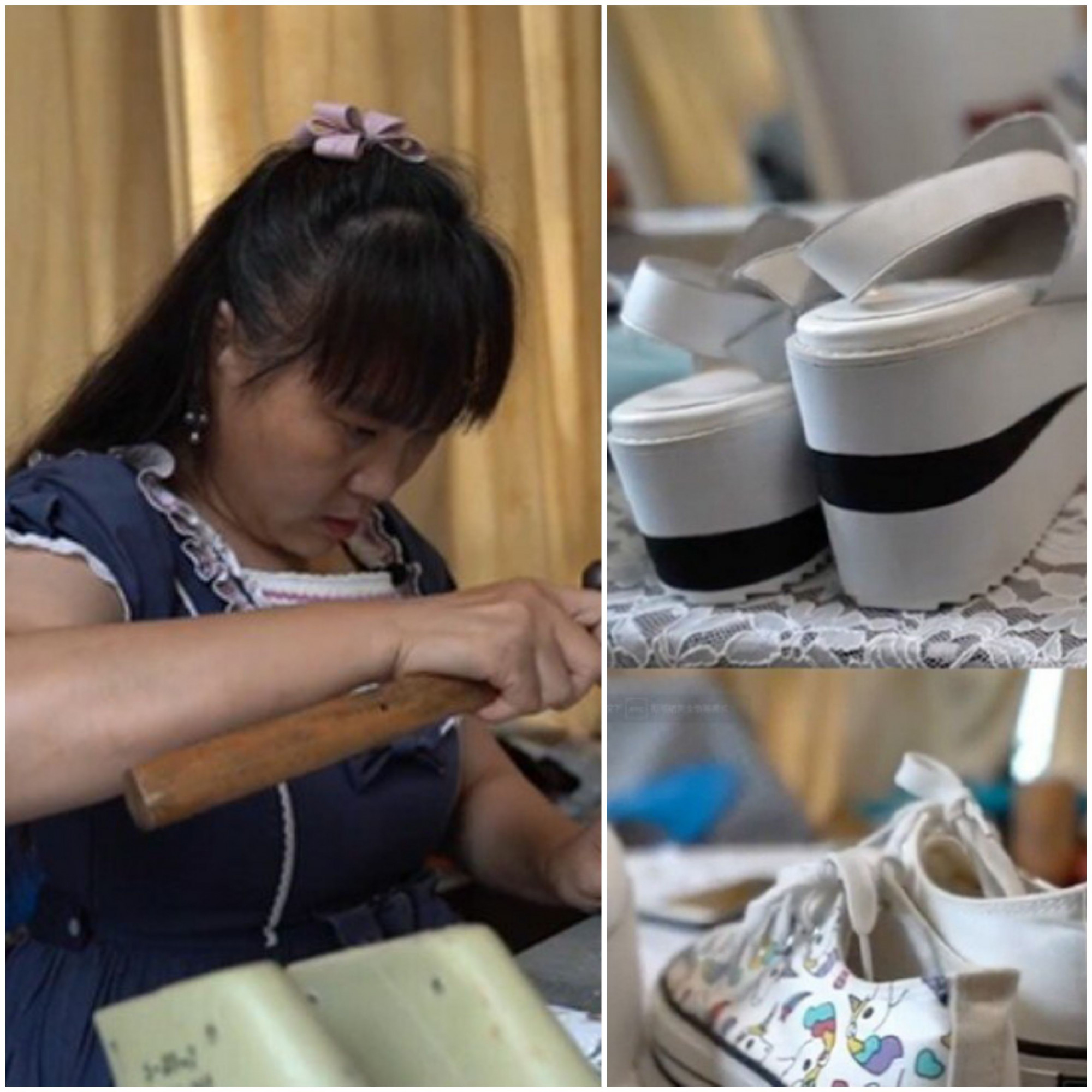 Xie Chuanqin sửa gần 3.000 đôi giày cho người khuyến tật..