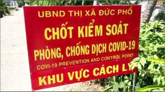 """Cả 2 tỉnh Quảng Ngãi áp dụng các biện pháp với mức """"nguy cơ rất cao"""" trong phòng, chống dịch  COVID - 19"""