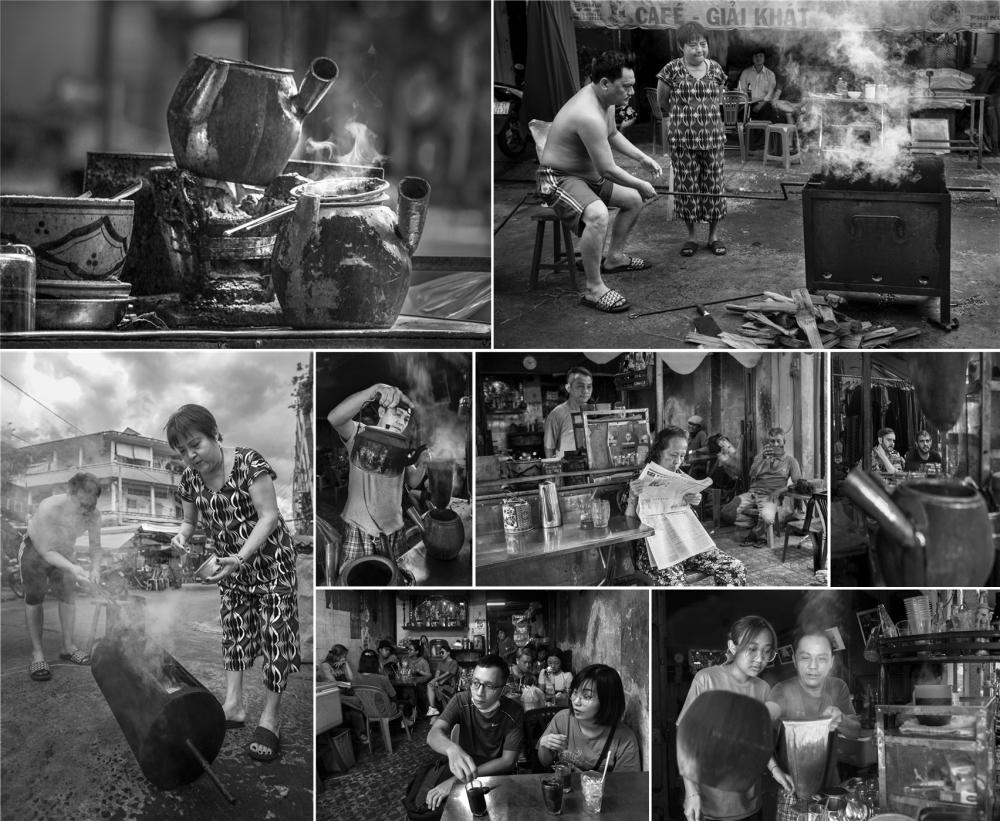 Bộ ảnh Cà phê vợt thể hiện nét đẹp hương xưa của một quán Cà phê có lịch sử hơn 60 năm tại quận 5.