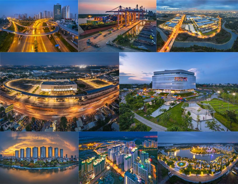 Bộ ảnh Diện mạo thành phố trẻ (Giang Sơn Đông) ghi lại dạng hình TP. Thủ Đức - TP mới được thành lập theo Quyết định của Ủy ban Thường vụ Quốc hội ngày 24/7/2020 và có hiệu lực từ ngày 01/01/2021 . TP Thủ Đức được sát nhập từ quận Thủ Đức , quận 2 , quận 9 .Với cơ sở hạ tầng sẵn có , cộng thêm những công trình mới tạo nên một diện mạo thành phố trẻ ,hướng tới sự phát triển bền vững , vươn đến những tầm cao mới , góp phần vào sự phát triển của TP. Hồ Chí Minh và cả nước .