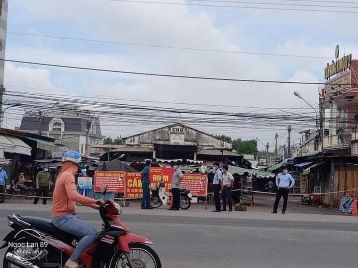 Chợ Minh Hoà- Dầu Tiếng sáng nay bị phong toả