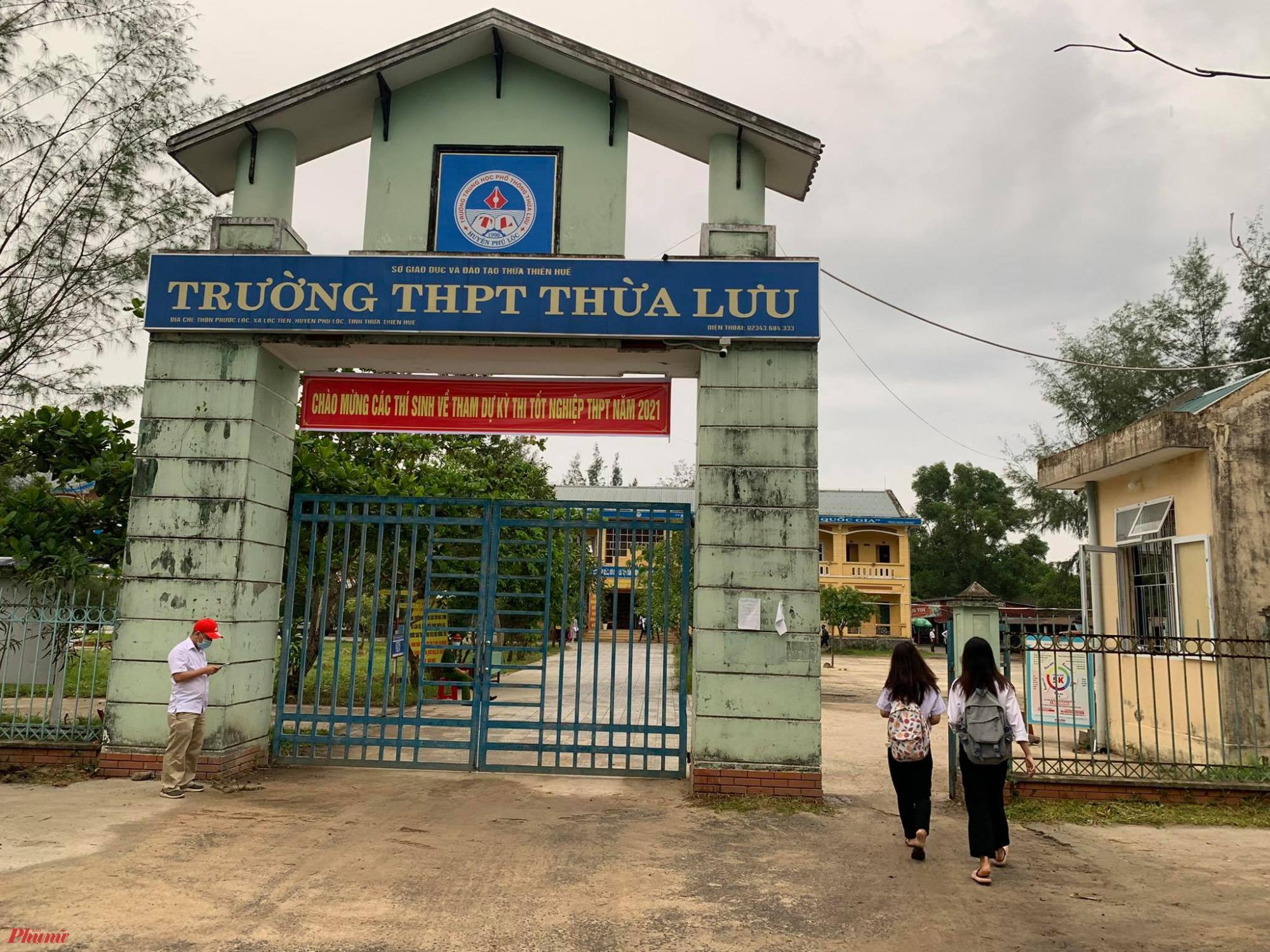 Trường THPT Thừa Lưu nơi có 13 thí sinh 'đặc biệt' dự thi