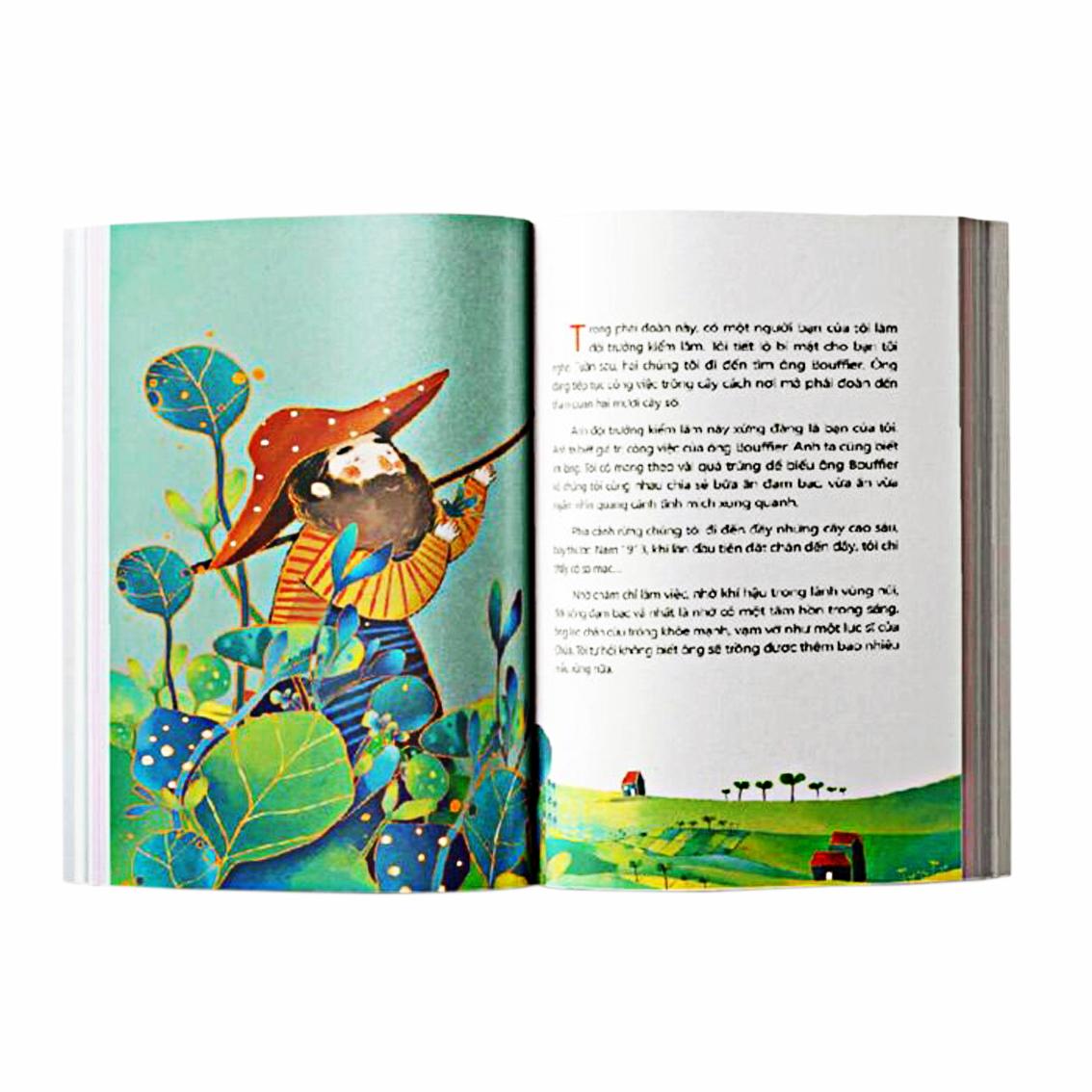 Tranh minh họa trong tác phẩm Người trồng rừng