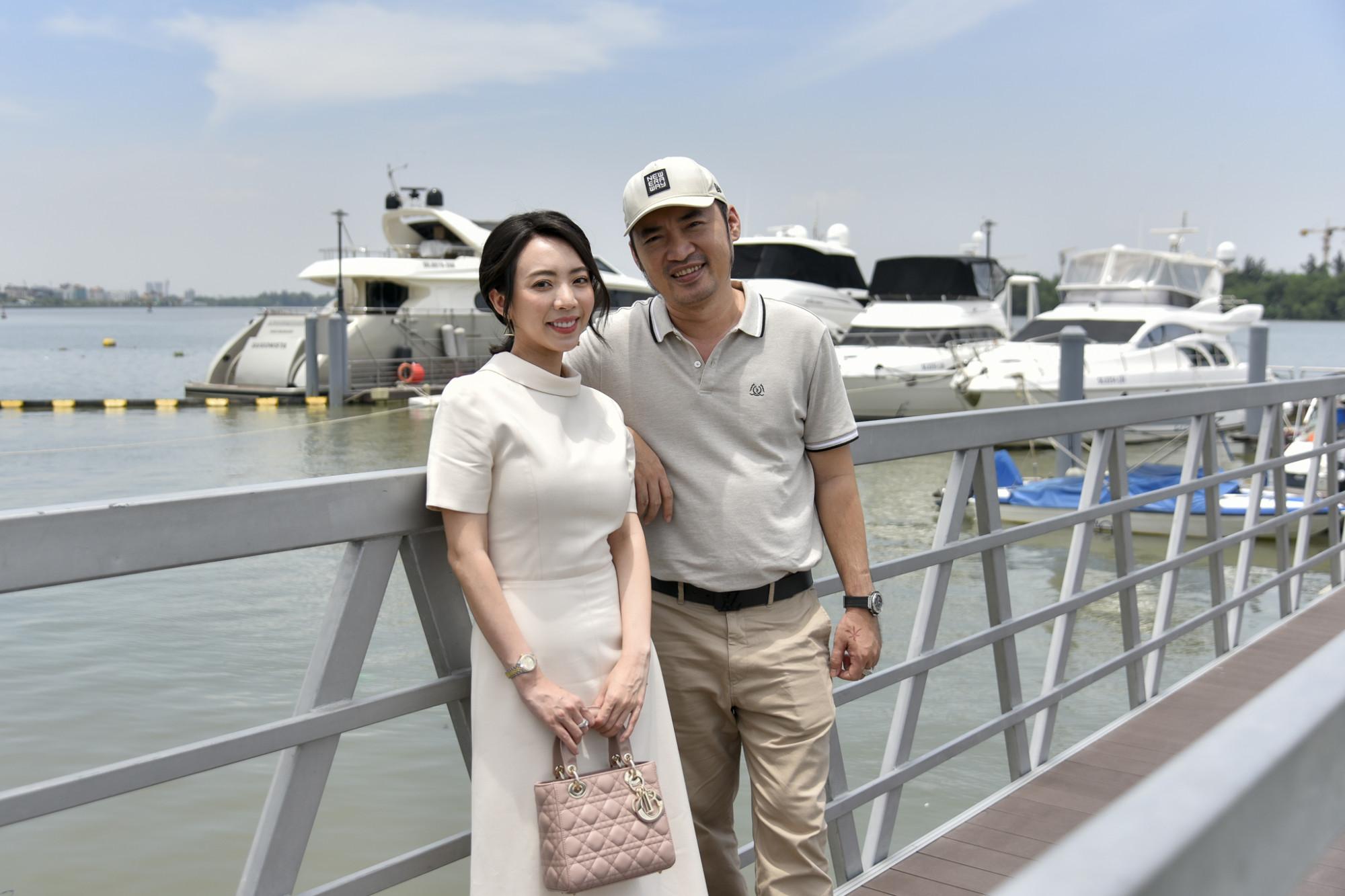 """Thu Trang chia sẻ """"chắc phải ráng cày cuốc"""" để tậu thêm một căn để ngày ngày ngắm du thuyền- Ảnh: Novaland"""