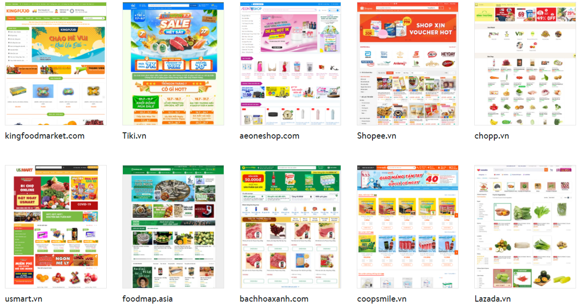 Các website bán hàng thiết yếu được Sở Công thương TPHCM công bố