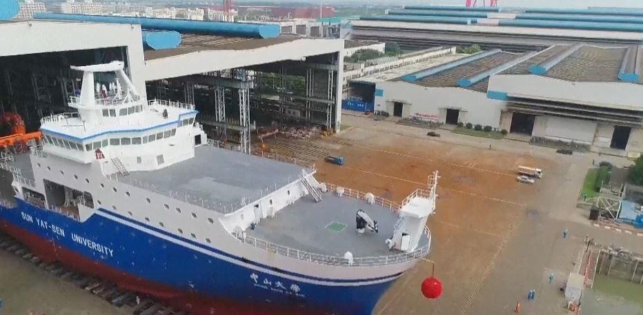 Tàu nghiên cứu Đại học Tôn Trung Sơn dự kiến sẽ đến khu vực quần đảo Hoàng Sa của Việt Nam vào tháng 10 (Ảnh: CGTN)