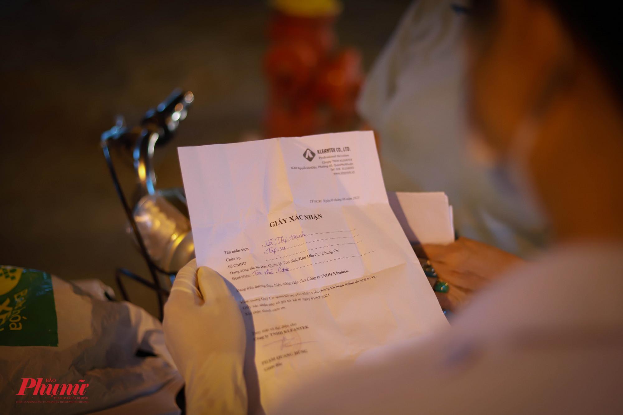 Nhiều trường hợp không xuất trình được CMND chỉ có giấy xác nhận của Công ty
