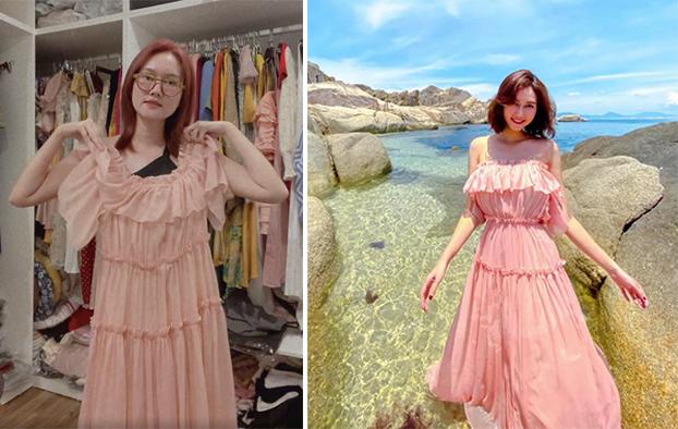 Ngoài quần áo đã mặc trên phim, Hương Giang thanh lý một số trang phục khác. Cô cho biết các thiết kế chỉ mặc 1, 2 lần thậm chí có đồ còn chưa được mặc đến. Nữ diễn viên sở hữu nhiều trang phục nữ tính, màu sắc và kiểu dáng nhẹ nhàng.