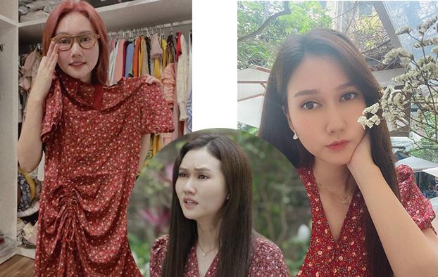 Đây là chiếc đầm được Hương Giang mặc trong thời điểm sóng gió trên phim khi bạn thân phát hiện ra cô là người nói dối, không thật lòng với bạn bè.