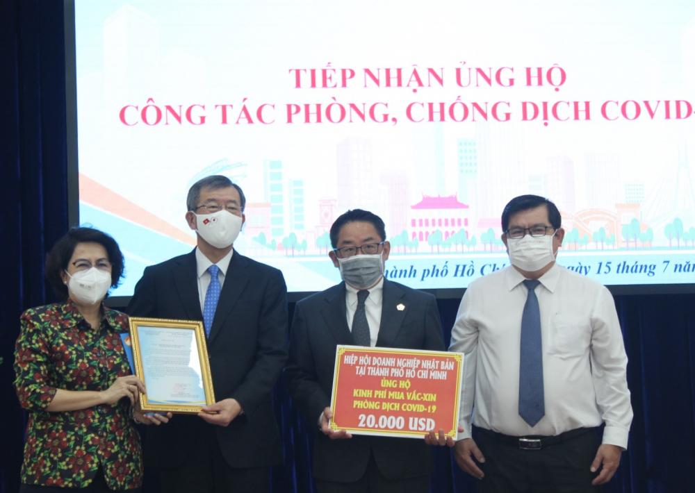 Ngoài viện trợ vắc xin, doanh nghiệp Nhật Bản tại TPHCM cũng đóng góp nhiều cho công tác phòng, chống dịch.