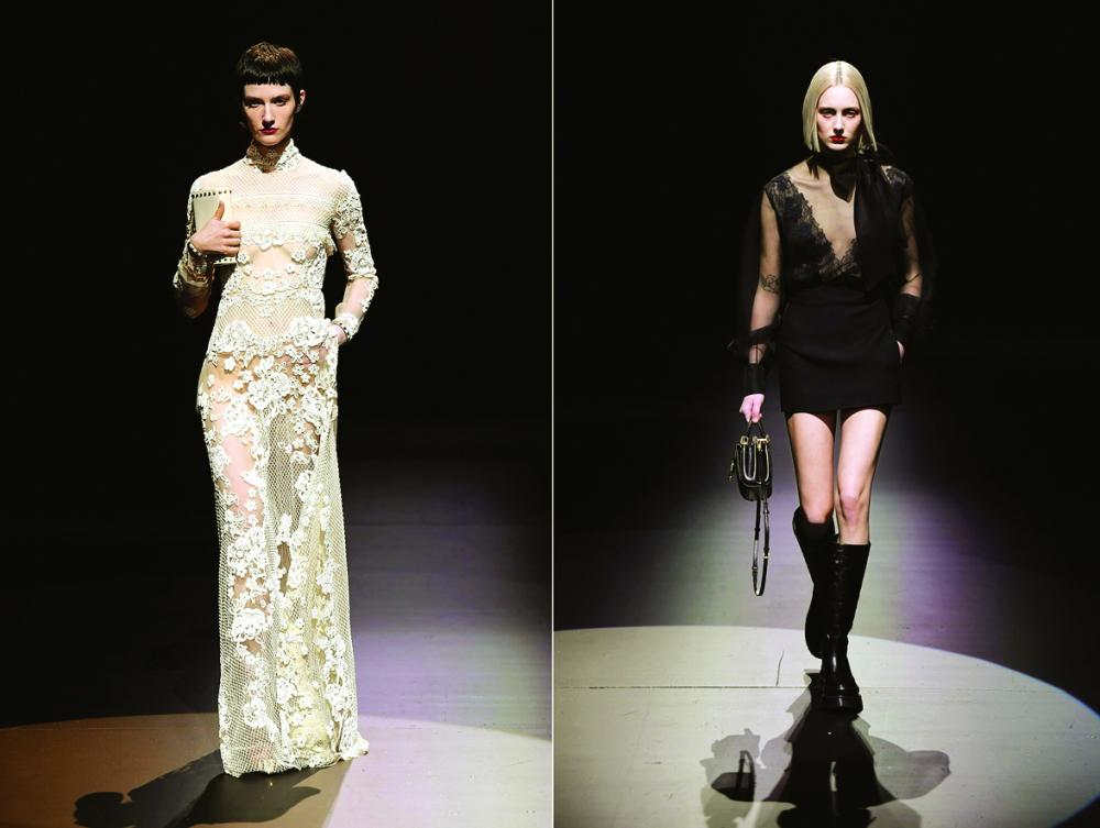 Bộ sưu tập thu - đông của  thương hiệu Valentino ra mắt tại  tuần lễ thời trang Milan 2021 - Ảnh: WWD