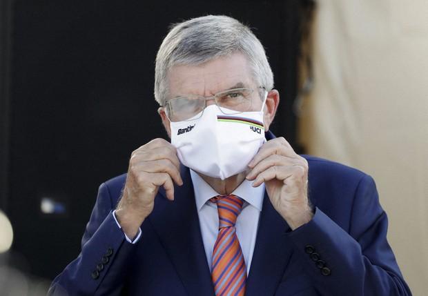Chủ tịch Ủy ban Olympic Quốc tế (IOC) Thomas Bach làm phật lòng người dân Nhật Bản trong một tuyên bố  (Ảnh của Kazuhiro NOGI / POOL / AFP)