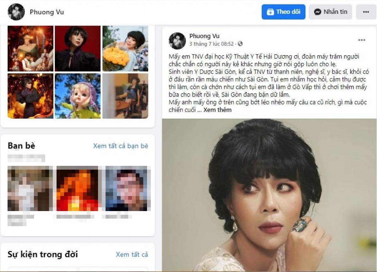 Bài đăng gây tranh cãi đã bị xoá trên trang cá nhân của Trác Thuý Miêu