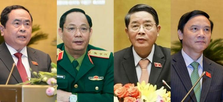 Chân dung của 4 Phó Chủ tịch Quốc hội khóa XV