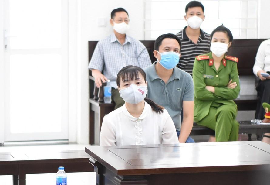 Bị cáo Nguyễn Thị Thanh Thủy tại tòa