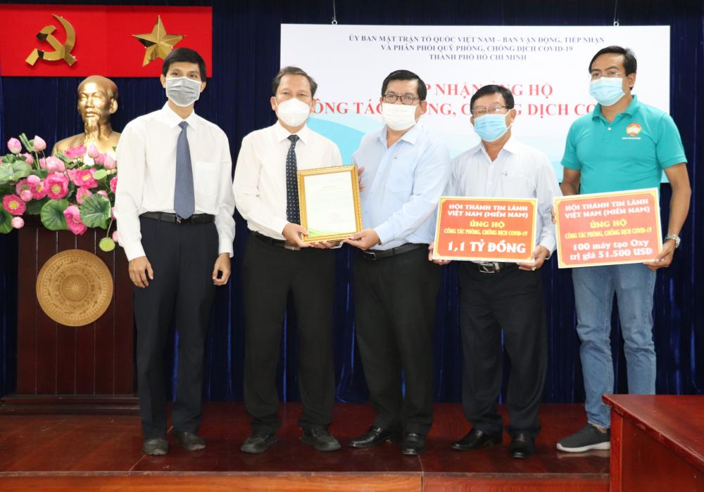 Tổng liên hội Hội thánh Tin lành Việt Nam (miền Nam) đã vận động, ủng hộ hàng tỷ đồng kinh phí và trang thiết bị cho công tác phòng, chống dịch COVID-19 của TPHCM.