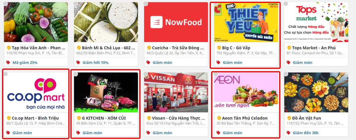 Hàng hóa đa dạng từ các cửa hàng cũng là một trong những lợi thế khiến người dùng tin tưởng và sử dụng dịch vụ NowFresh