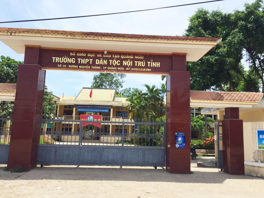 Điểm trường trường THPT Dân tộc Nội trú tỉnh Quảng Ngãi là điểm thi cho thí sinh diện F1