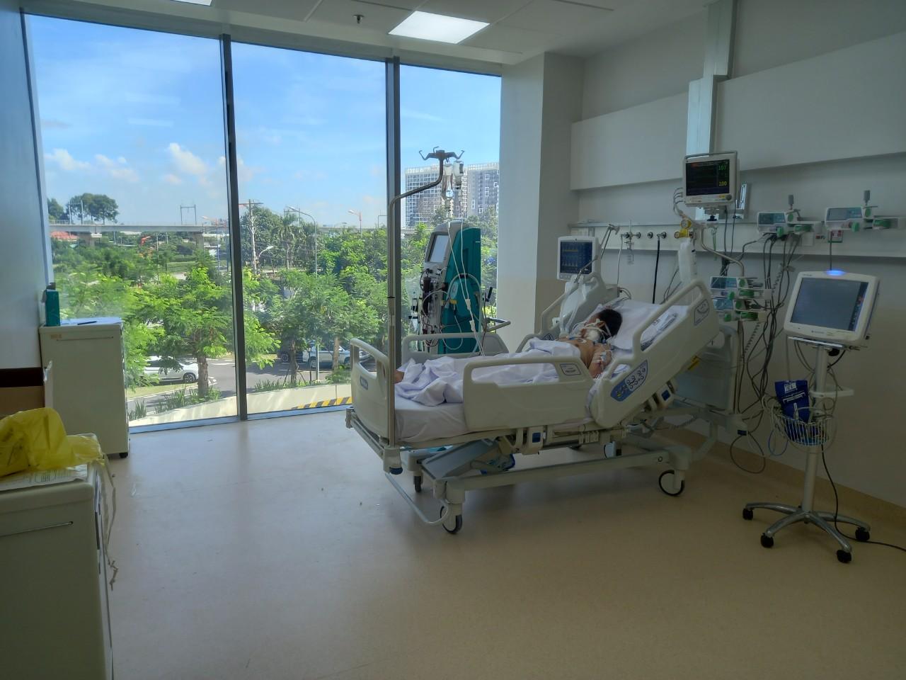 Bệnh nhân COVID-19 tại Bệnh viện Hồi sức COVID-19 (TPHCM).