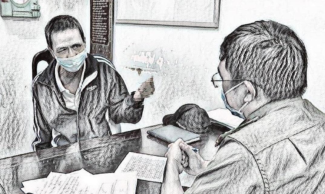 Nguyễn Xuân Thủy tại cơ quan công an
