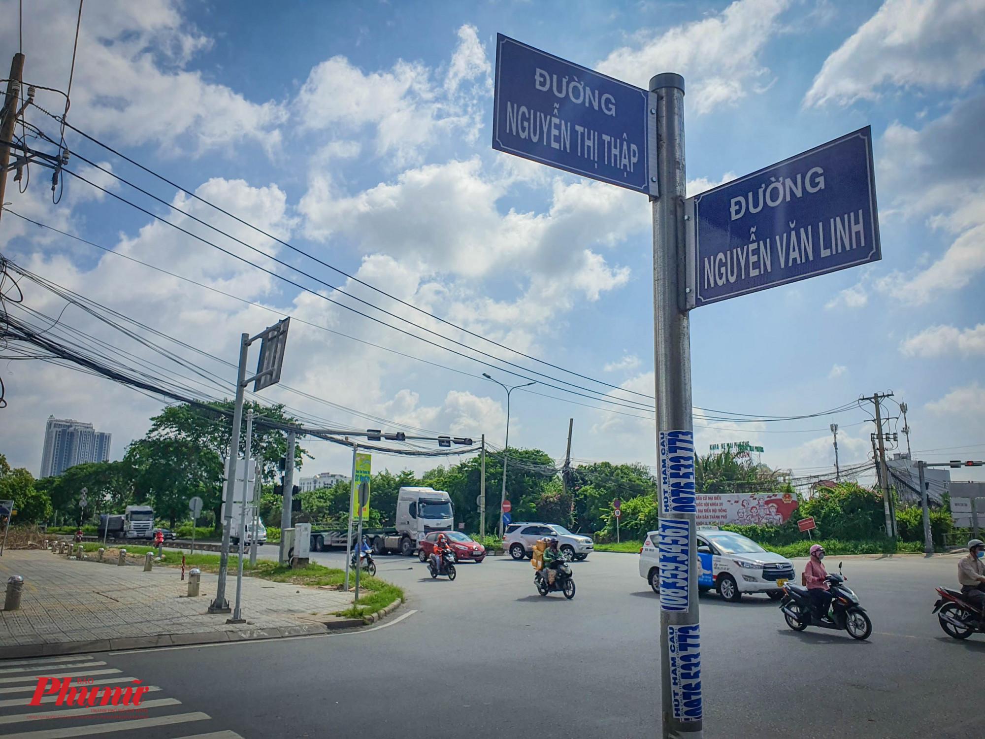 Điểm đầu dự án từ đường Nguyễn Thị Thập (Quận 7)
