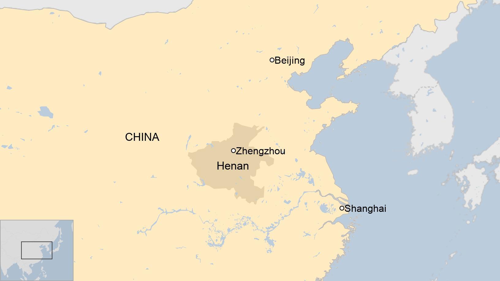 Tỉnh Hà Nam nằm ở miền Trung Quốc