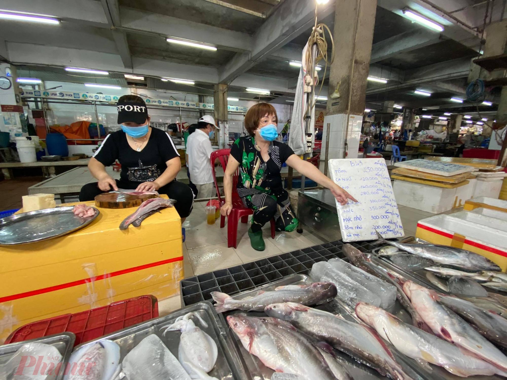 Giá cá tại chợ  An Đông tăng khá mạnh, có  loại  tăng  20.000 - 50.000 đồngg/ký