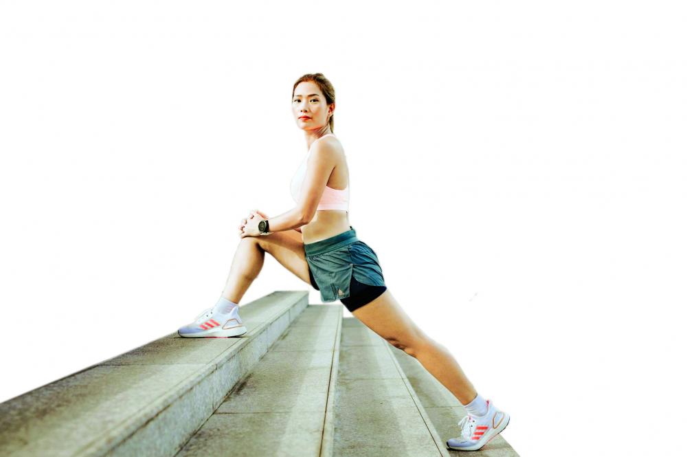 Nguyễn  Phương Hoa  đã vào tâm thế  sẵn sàng  cho cuộc thi Triathlon Việt Nam  Ảnh Nhân vật  cung cấp