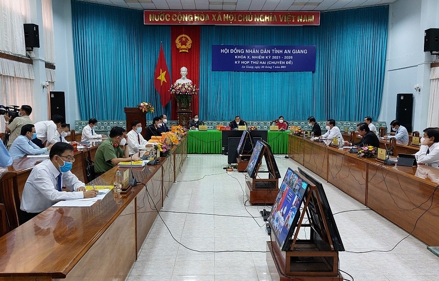 Kỳ họp HĐND tỉnh An Giang ngày 22/7 được tổ chức trực tuyến với các địa phương trực thuộc