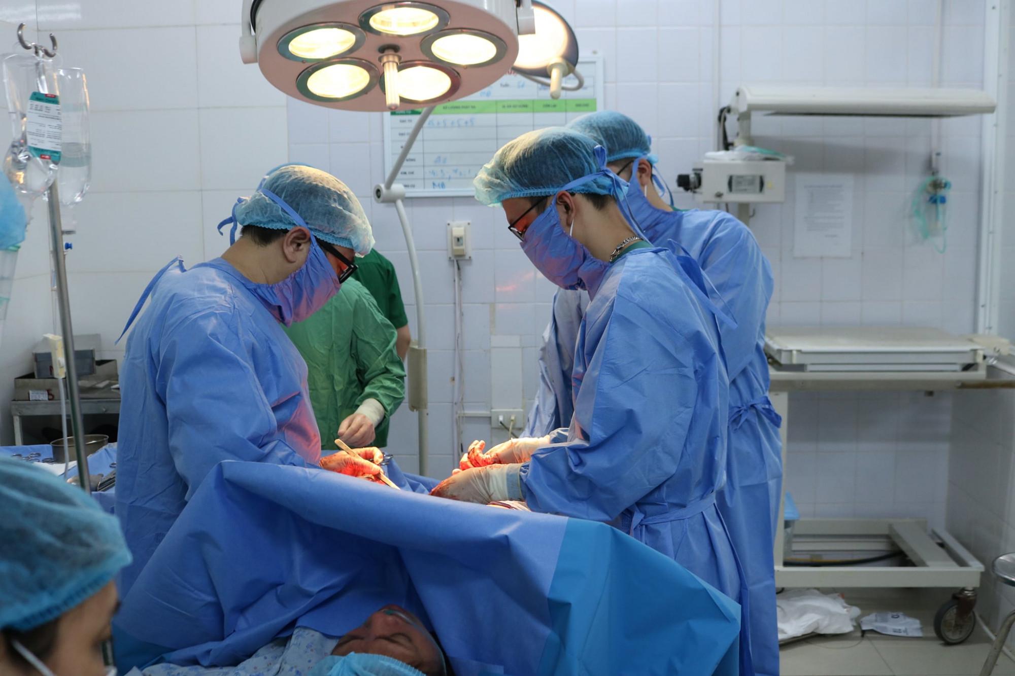 Sản phụ L. được mổ bắt con ở tuần thai thứ 35.