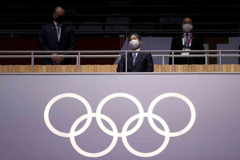 Sau màn diễu hành của các đoàn vận động viên, Nhật hoàng Naruhito chính thức tuyên bố khai mạc Thế vận hội Olympic