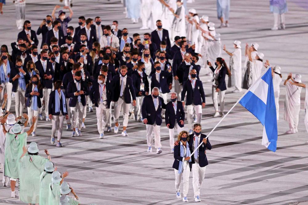 Đội tuyển Argentina diễu hành trong Lễ khai mạc