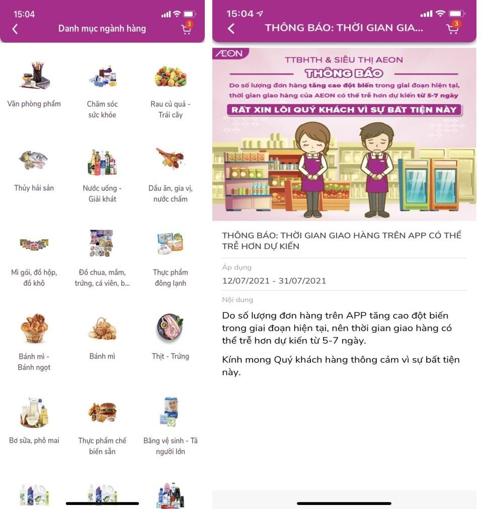 AEON Vietnam sở hữu danh mục ngành hàng đa dạng song thời gian giao hàng kéo dài