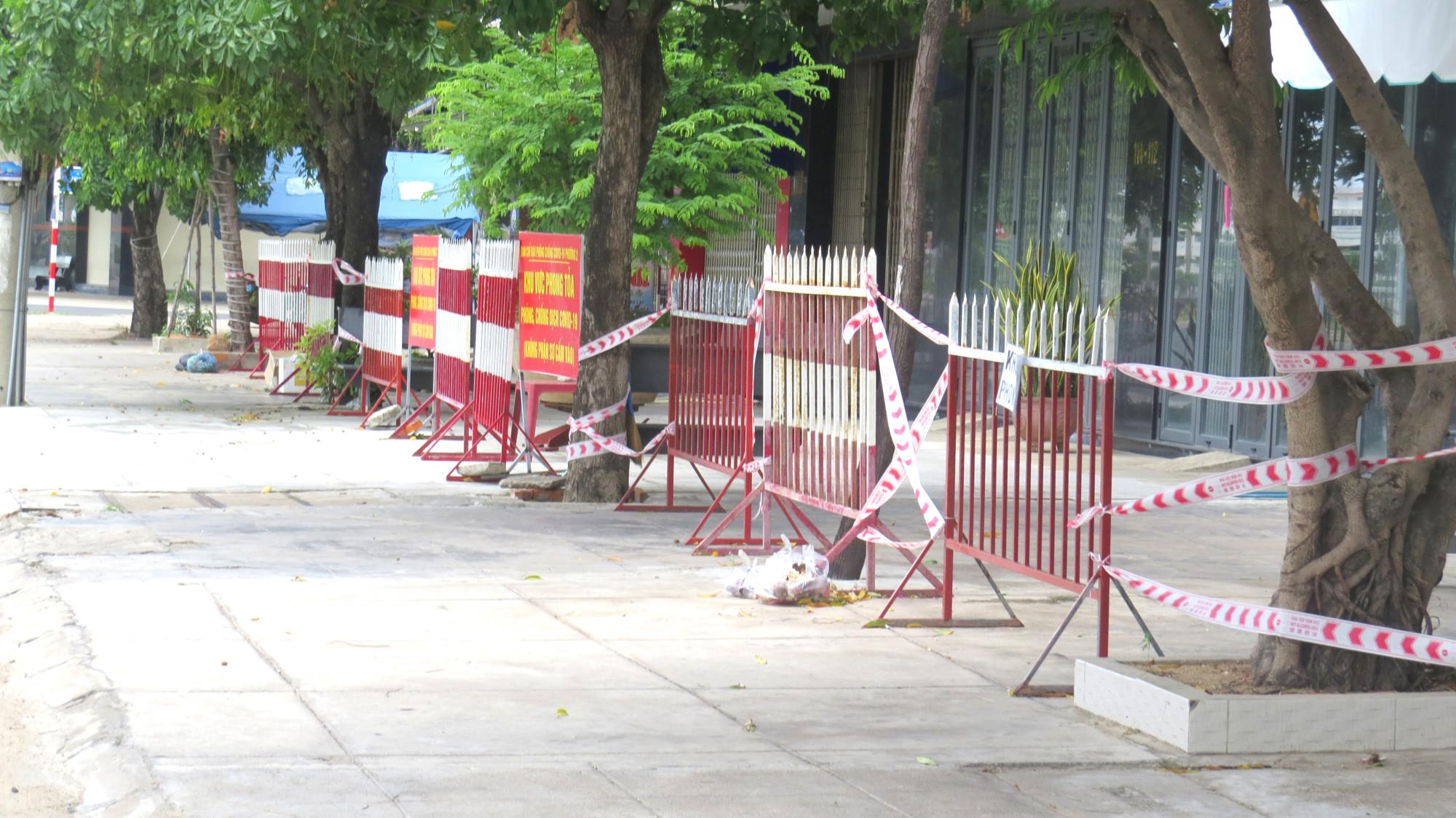 Khu nhà phong tỏa đường Trần Phú, TP. Tuy Hòa (Phú Yên)