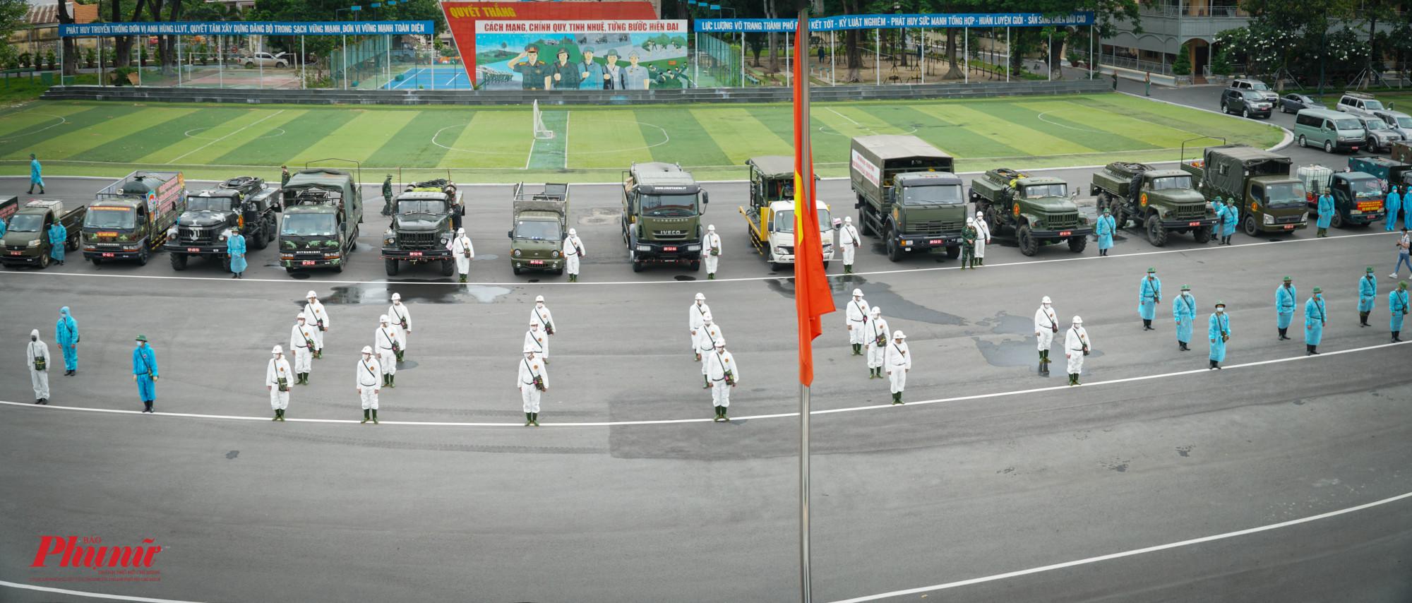 Lực lượng và phương tiện được tập trung trước giờ xuất phát