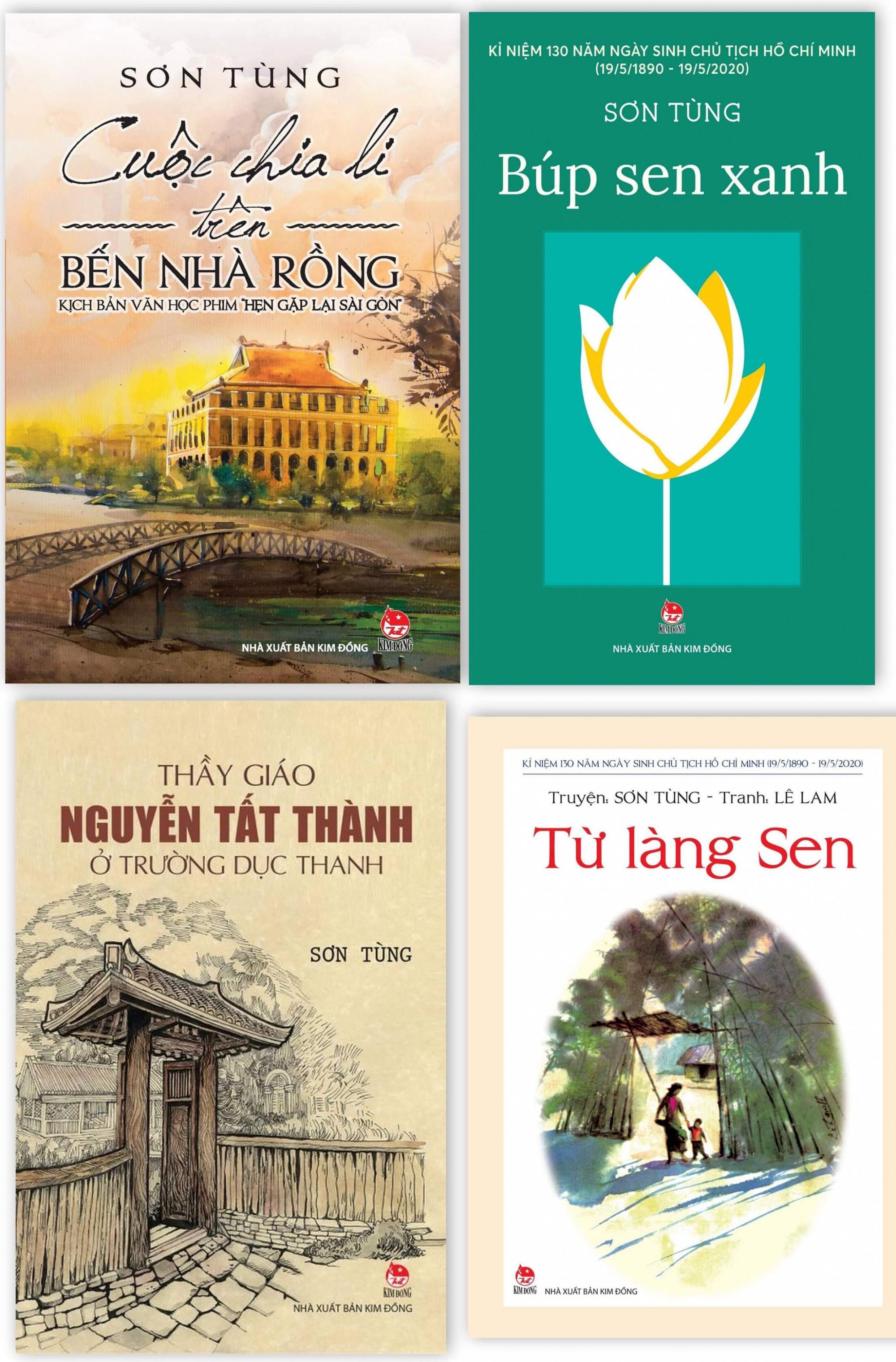 Một số cuốn sách của nhà văn Sơn Đồng in tại Nhà xuất bản Kim Đồng