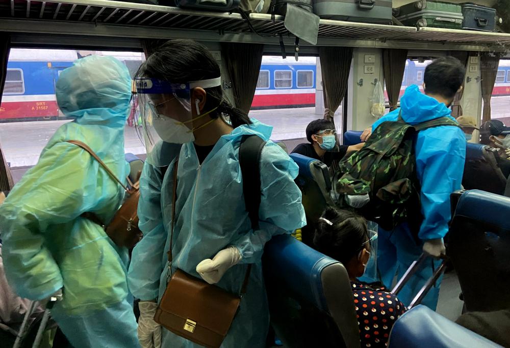Khi về tới Hà Tĩnh, người trở về trên chuyến tàu sẽ được cách ly tập trung tại các khu cách ly của tỉnh