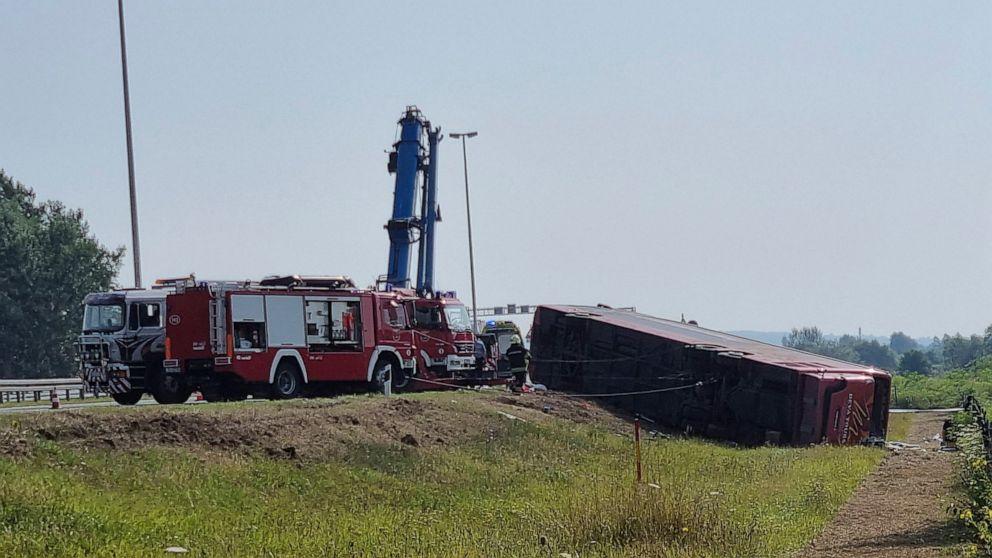 Hiện trường vụ tai nạn giao thông khiến 10 người chết.