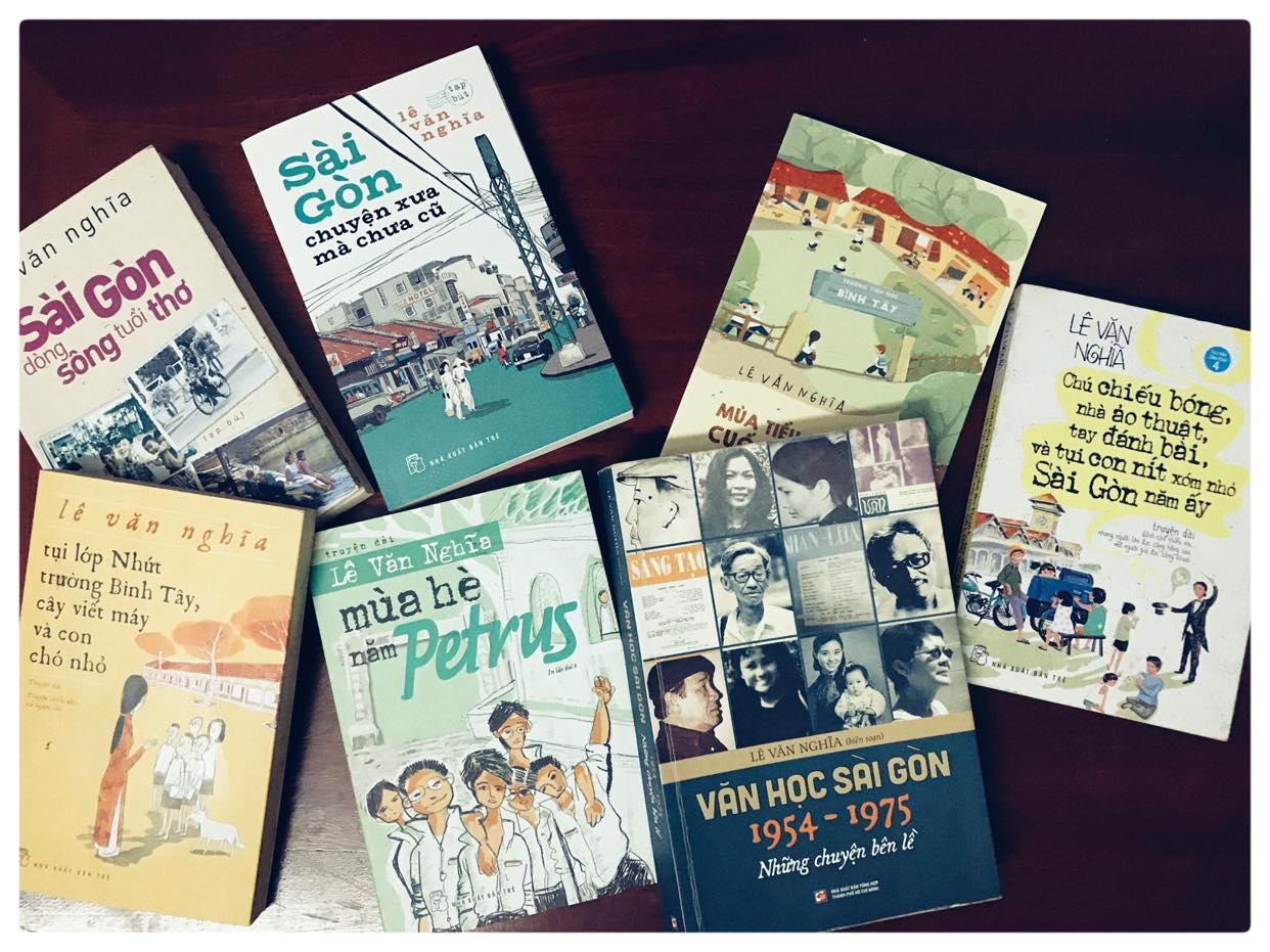 Nhà văn Lê Văn Nghĩa là tác giả của nhiều cuốn sách viết về Sài Gòn