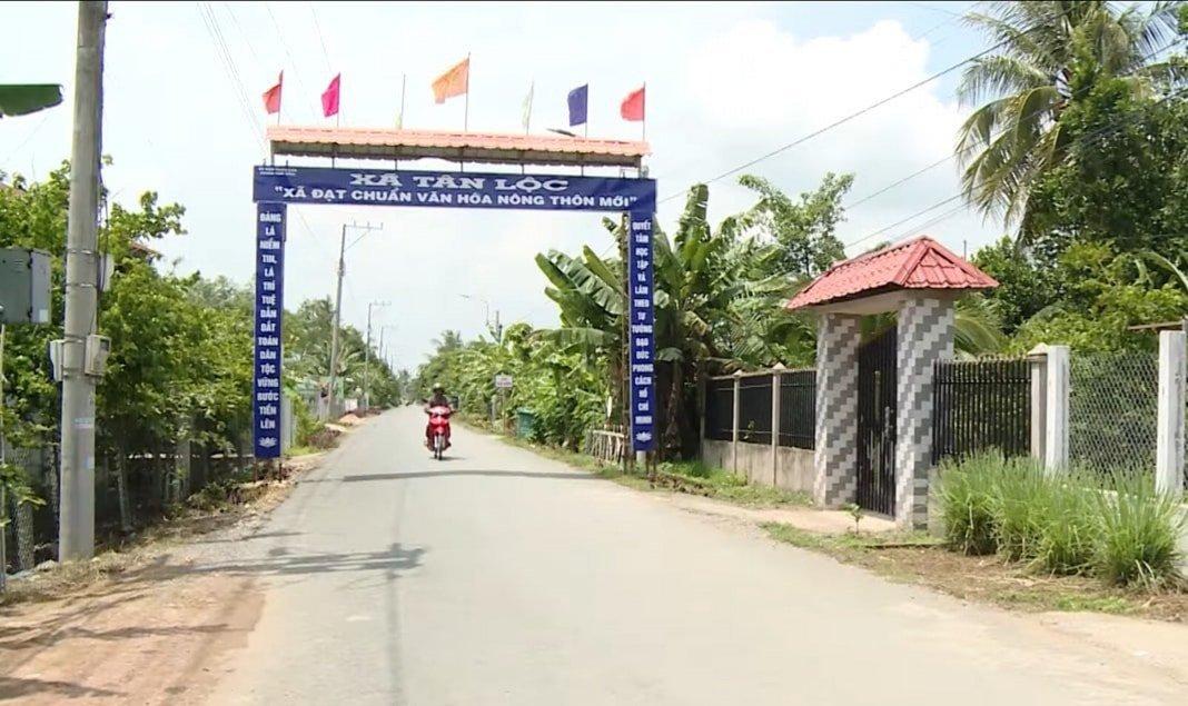 Xã Tân Lộc đã phong tỏa 4 ấp, có tổng cộng 1.371 hộ gia đình với 5.405 nhân khẩu