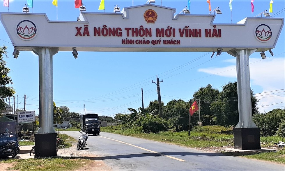Sóc Trăng cách ly y tế xã Vĩnh Hải với hơn 24.000 dân. Ảnh: CTV.