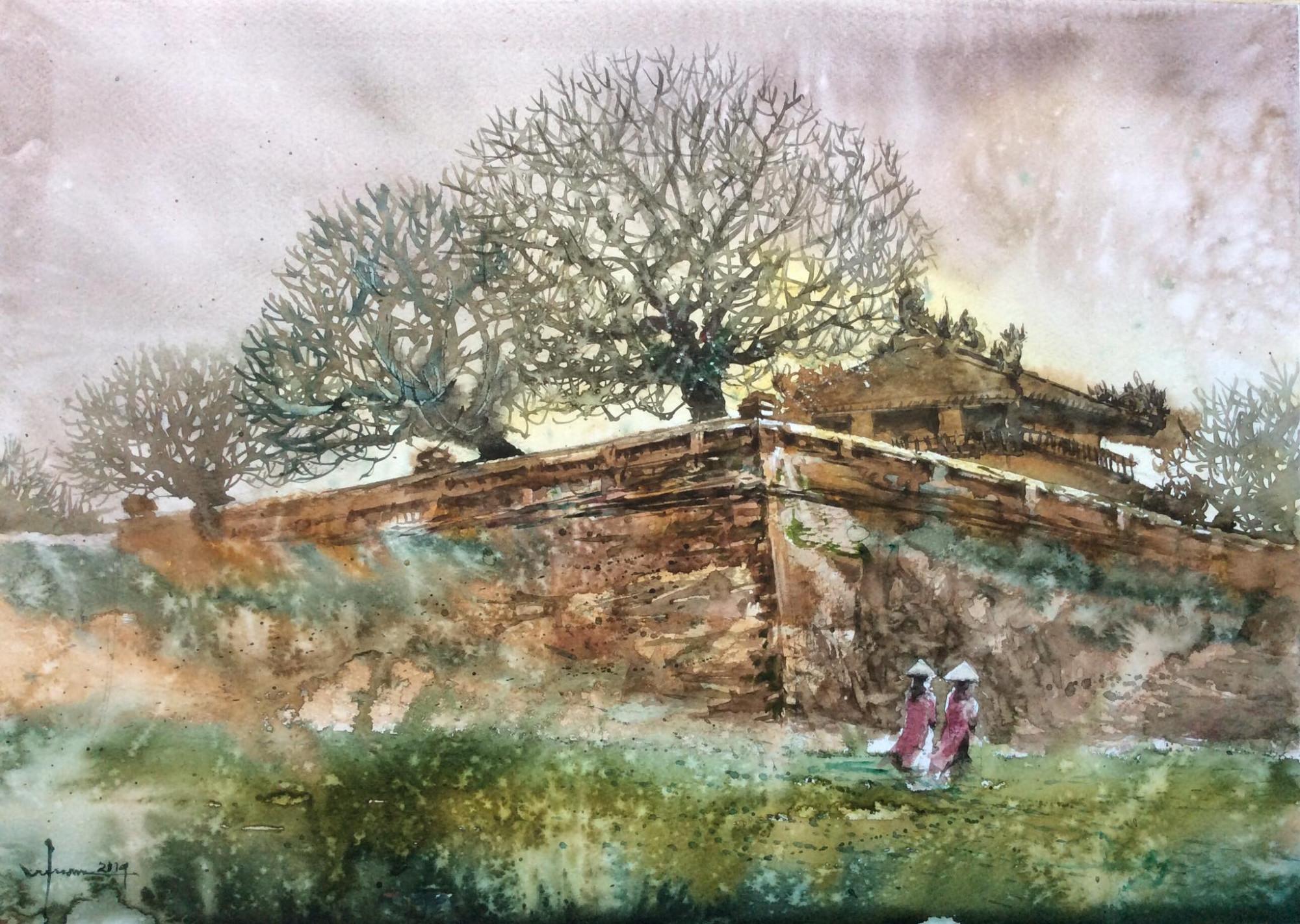 Tranh của họa sĩ Phan Vũ Tuấn in trong tác phẩm