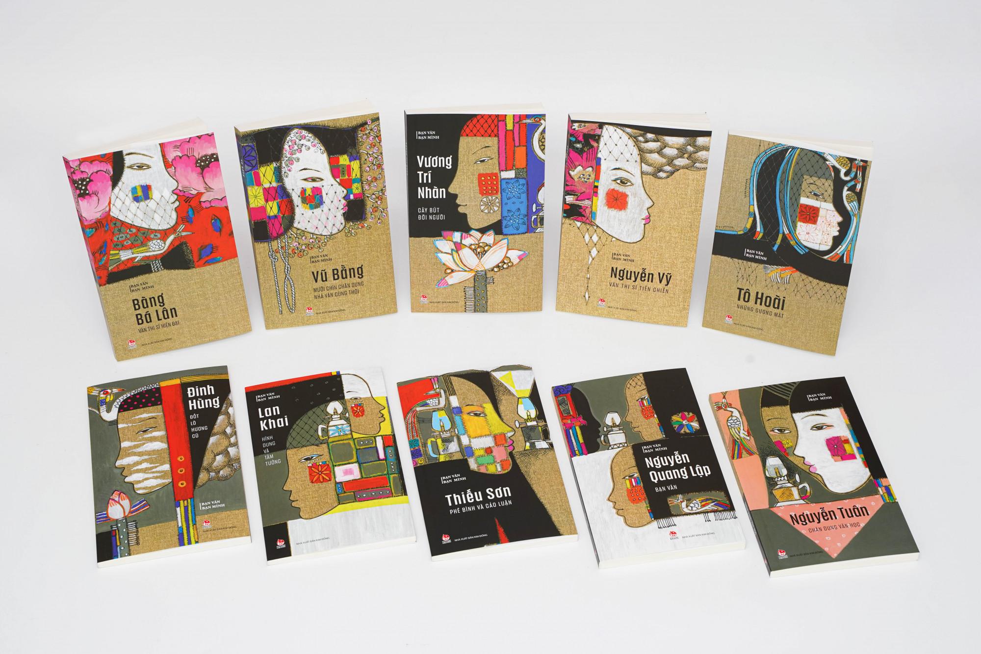 Bìa bộ sách Bạn văn bạn mình do họa sĩ Vũ Đình Tuấn vẽ