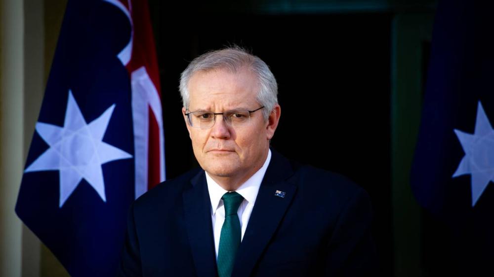 Thông điệp của Thủ tướng Scott Morrison về AstraZeneca đã bị phản đối - Ảnh: Elesa Kurtz